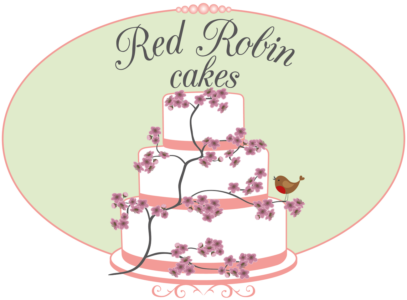 Red Robin Cakes Logo